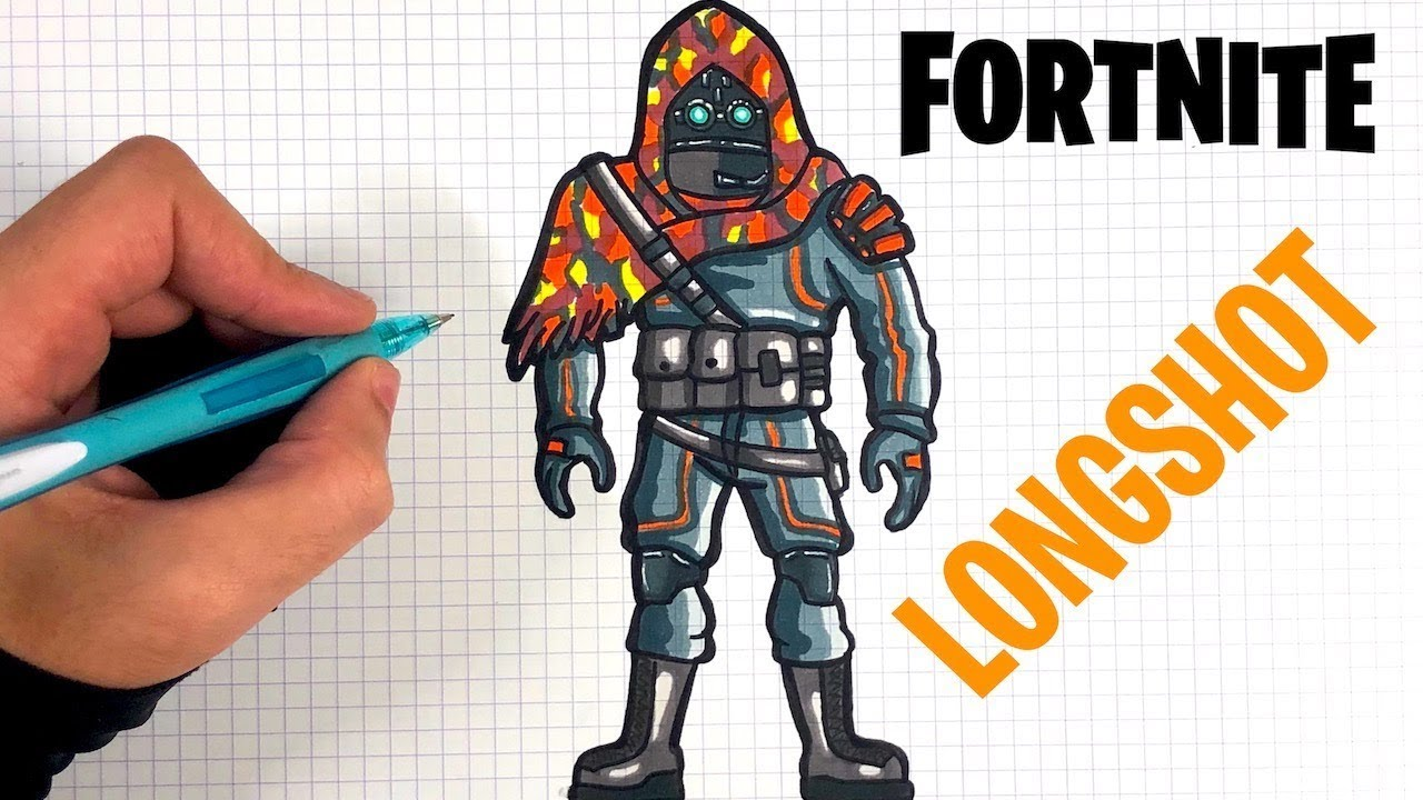 HOW TO DRAW LONGSHOT - FORTNITE SKIN - YouTube
