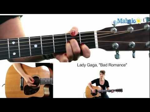 """How to Play """"Bad Romance"""" by Lady Gaga on Guitar"""