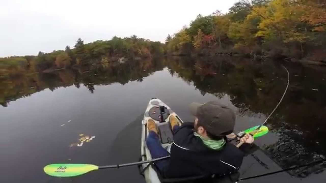 Kayak bass fishing in connecticut youtube for Bass fishing in ct