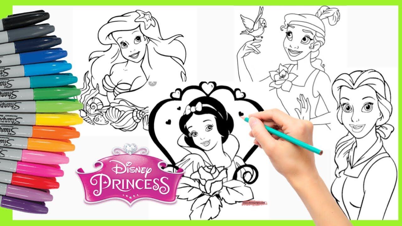 Mewarnai Princess Putri Salju Putri Duyung Princess Disney