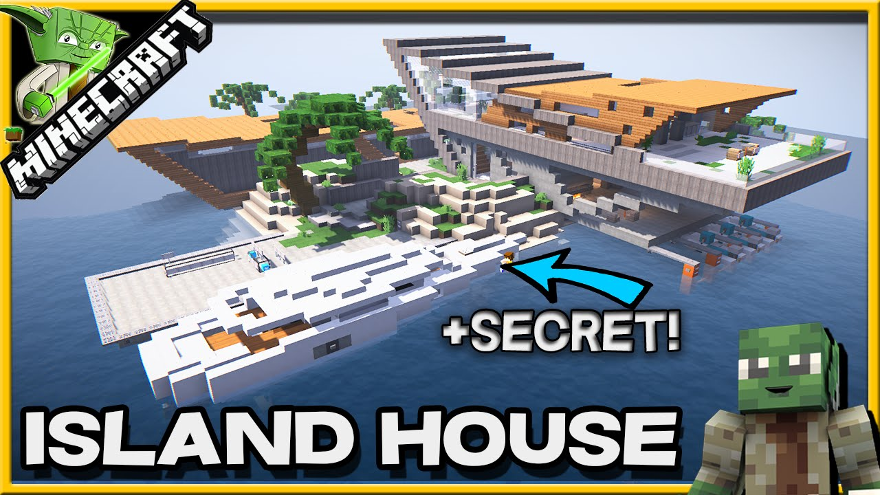 Minecraft Modern Island House +SECRET!!! Ft. Beanonaboard