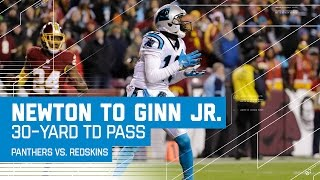 Cam Newton Fires 30-Yard TD to Ted Ginn Jr.! | Panthers vs. Redskins | NFL Week 15 Highlights
