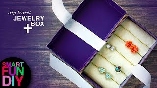 Fast Upcycled Jewelry Box From Cell Phone Packaging