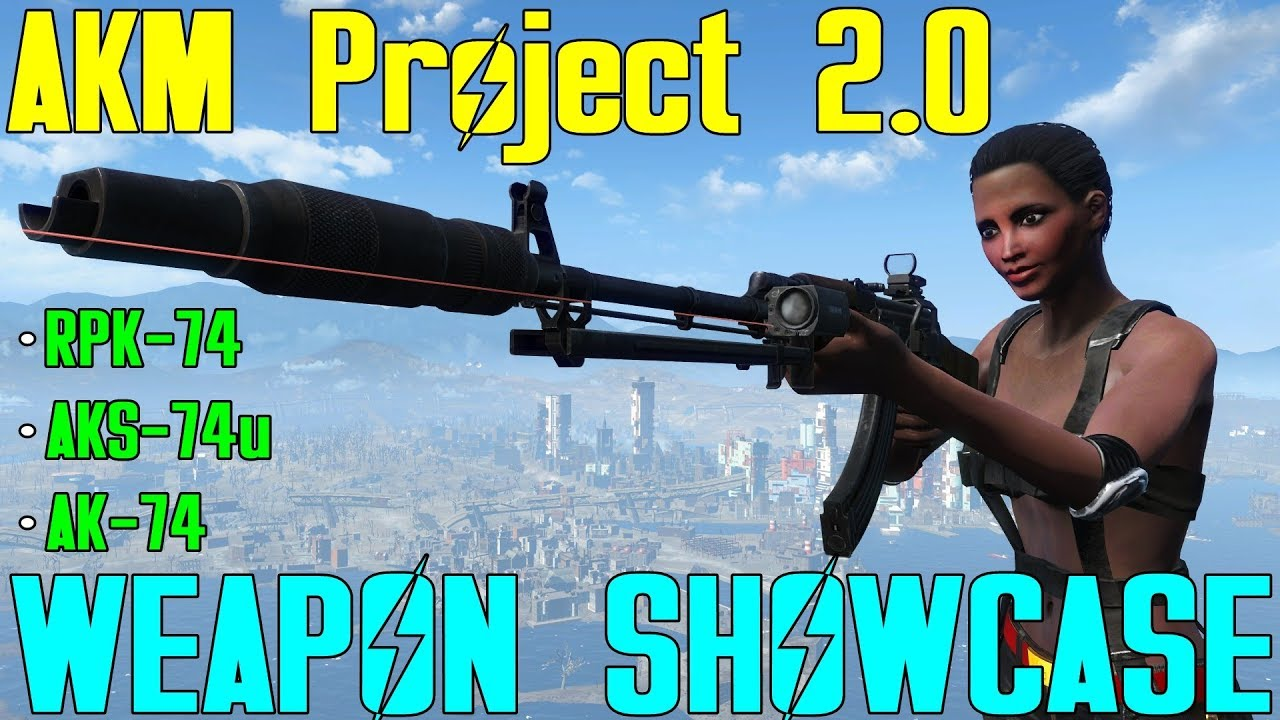 Fallout 4: Weapon Showcases: AKM Project 2 0 (Mod) - Most