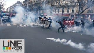 Manif violences policières. Débordements en fin de cortège / Paris - France 19 mars 2017