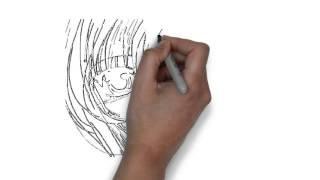 Как нарисовать аниме. Doodle video(Заказать рекламное дудл видео для продвижения вашего товара, сайта, тренинга или услуги можно пройдя по..., 2013-11-22T07:00:57.000Z)