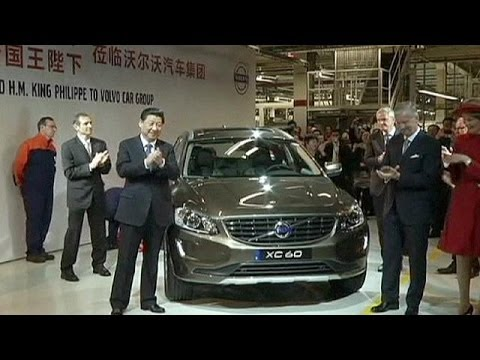 President Xi Jinping visits Chinese-owned Volvo car plant in Belgium - economy - YouTube