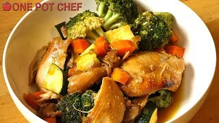 Slow Cooker Chicken Teriyaki with Vegetables | One Pot Chef