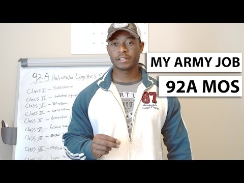 My Military Job | Army MOS 92A Automated Logistical Specialist