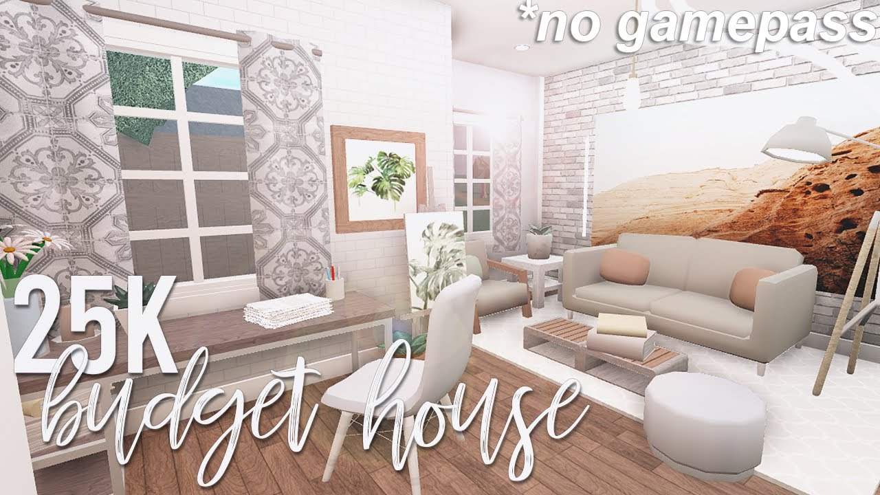 Roblox Bloxburg 25k No Gamepass Budget House Youtube