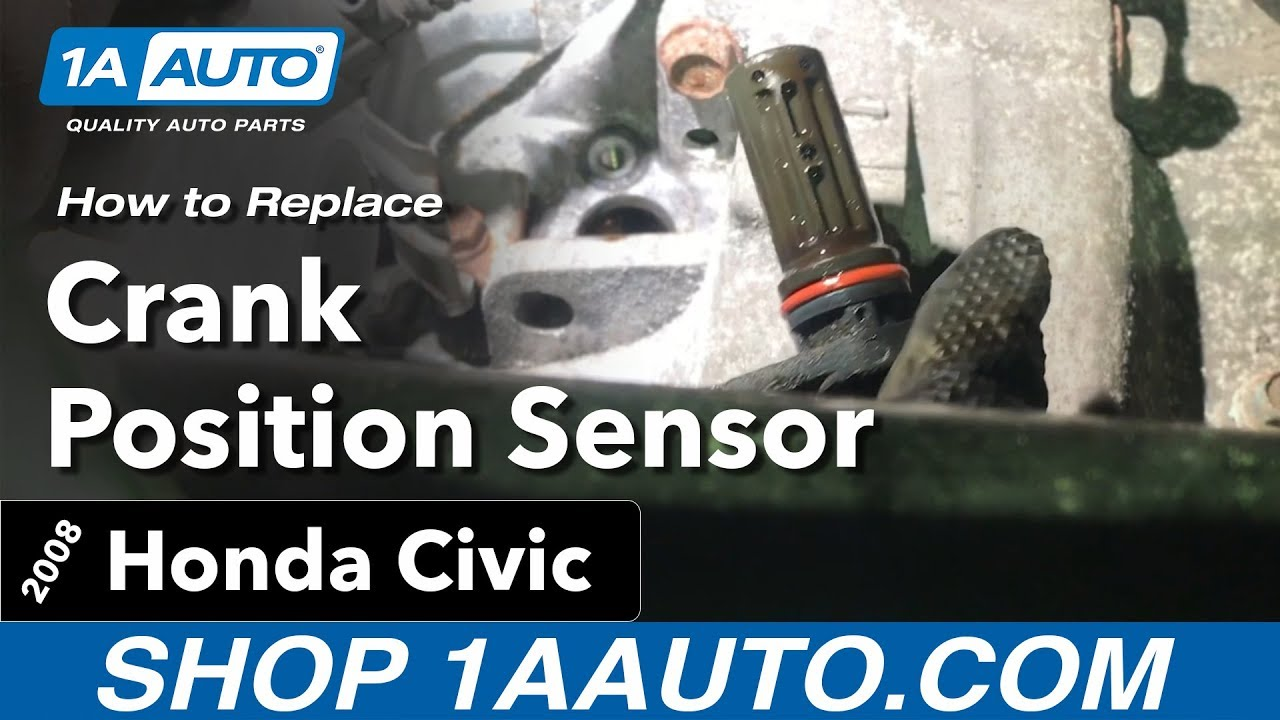 how to replace install crank position sensor 06 11 honda civic [ 1280 x 720 Pixel ]