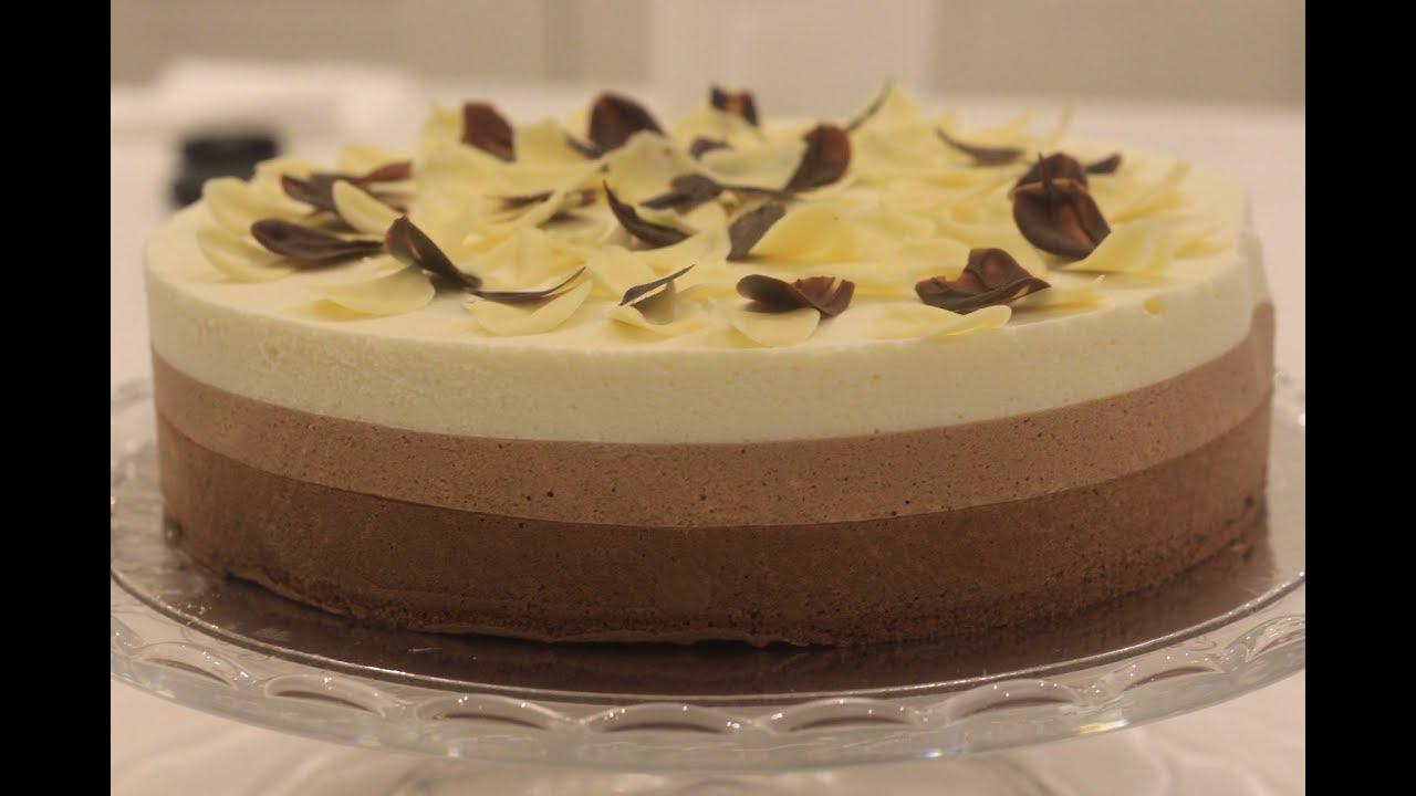 Gateau Aux 3 Chocolats Entremet Aux Trois Chocolats كيك موس
