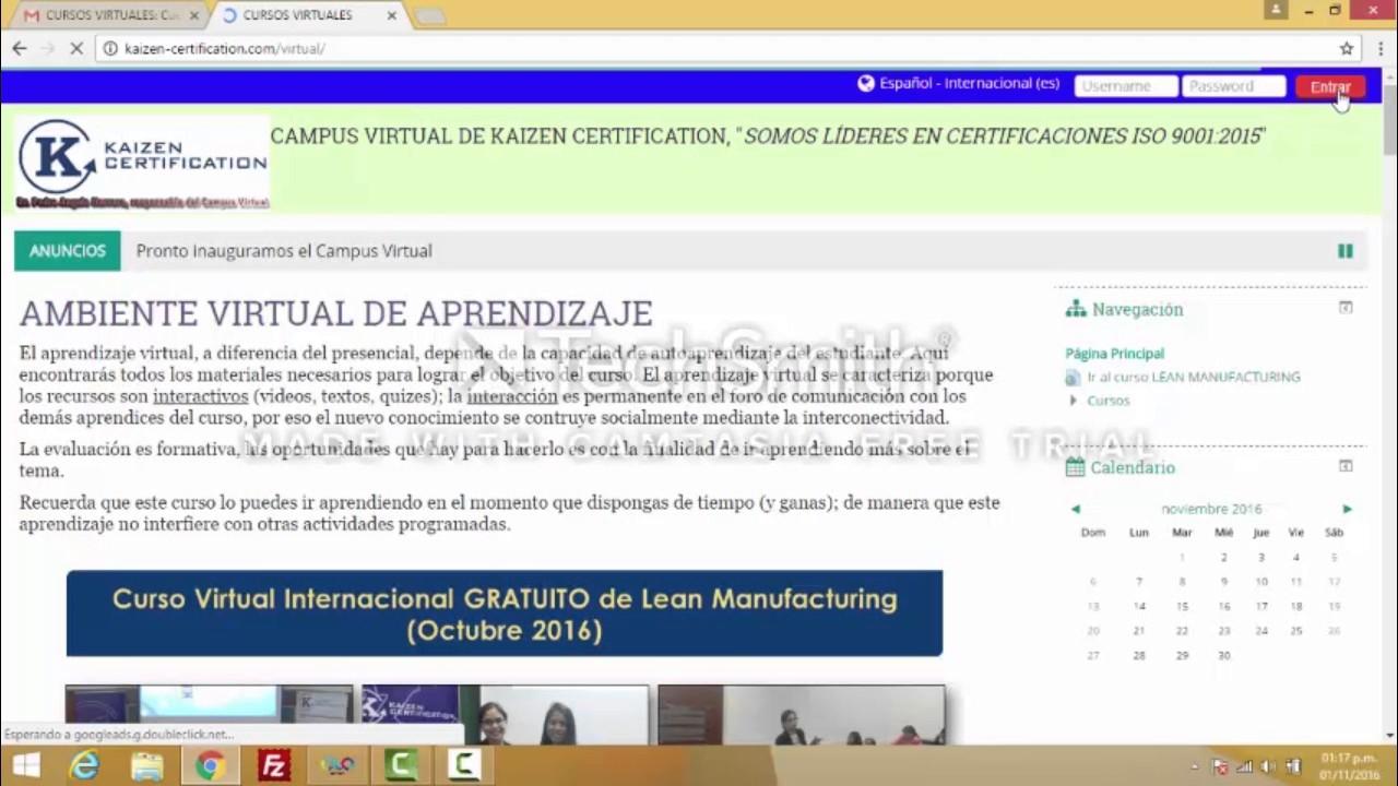 Ingreso al campus virtual kaizen certification youtube ingreso al campus virtual kaizen certification 1betcityfo Gallery