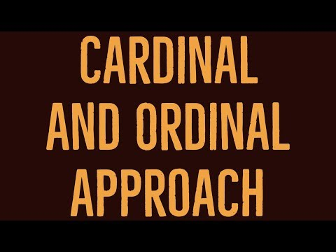 compare ordinal and cardinal utility The majority of work on matching has focused on settings with ordinal pref- (compare also analysis of the classical secretary problem cardinal utility.