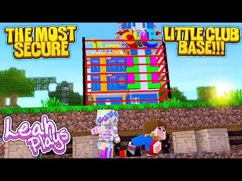 Minecraft THE MOST SECURE LITTLE CLUB GIRL BASE VS MOST SECURE LITTLE CLUB BOY BASE!!!!