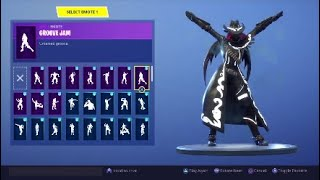 "Fortnite ""CALAMITY"" MAXED OUT Skin showcased with 40+ Emotes/Dances 