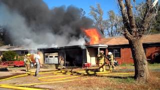 blazing house fire altus oklahoma nov 10th 2014