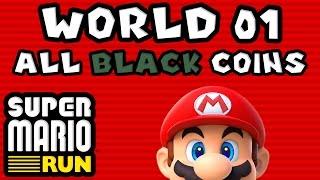 Super Mario Run: World 01 - ALL BLACK COINS