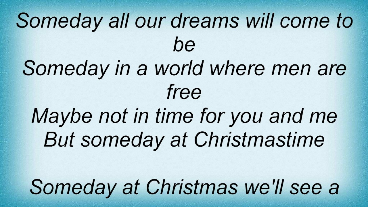 Someday At Christmas Lyrics.Stevie Wonder Someday At Christmas Lyrics Youtube