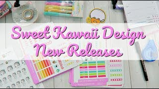 sweet kawaii design new releases planner stickers