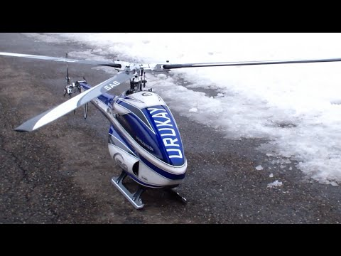 3 Blade Urukay SAB Goblin Division newest Technology RC Helicopter F3C fly  in the Swiss Snow