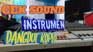 Cek sound instrument dangdut koplo sekar laut sound system