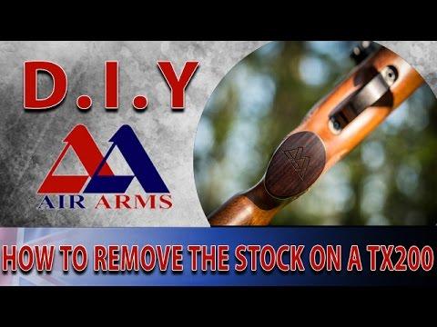 Air Arms D I Y: How To Remove The Stock On A TX200 Air Rifle