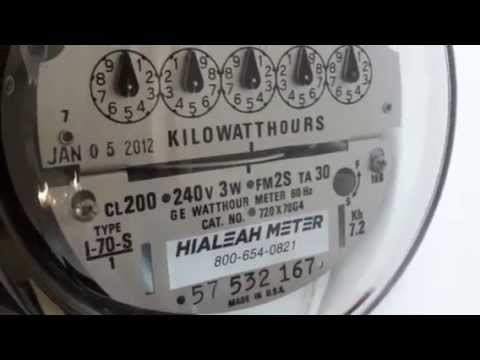 Ge Kilowatt Hour Meter Wiring Diagram 240 Volt Photocell Electricity General Electric I 70 S Youtube