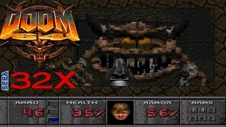 Doom 64 32X (Doom 32X Rom Hack) - NO DEATH RUN (ALL SECRETS) (COMPLETE WALKTRHOUGH)