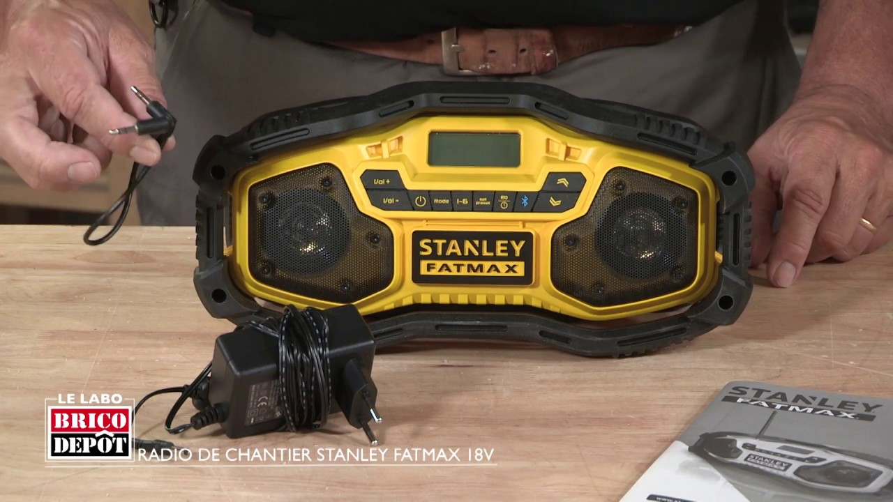 labo brico test radio de chantier stanley fatmax 18v. Black Bedroom Furniture Sets. Home Design Ideas