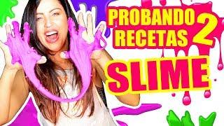 PROBANDO RECETAS RARAS DE SLIME! FUNCIONAN?! SandraCiresArt DIY