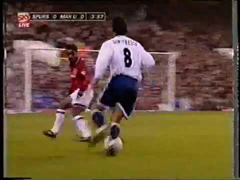 Ilie Dumitrescu si capatul de linie, in 01.01.1996 Tottenham  Manchester United 41