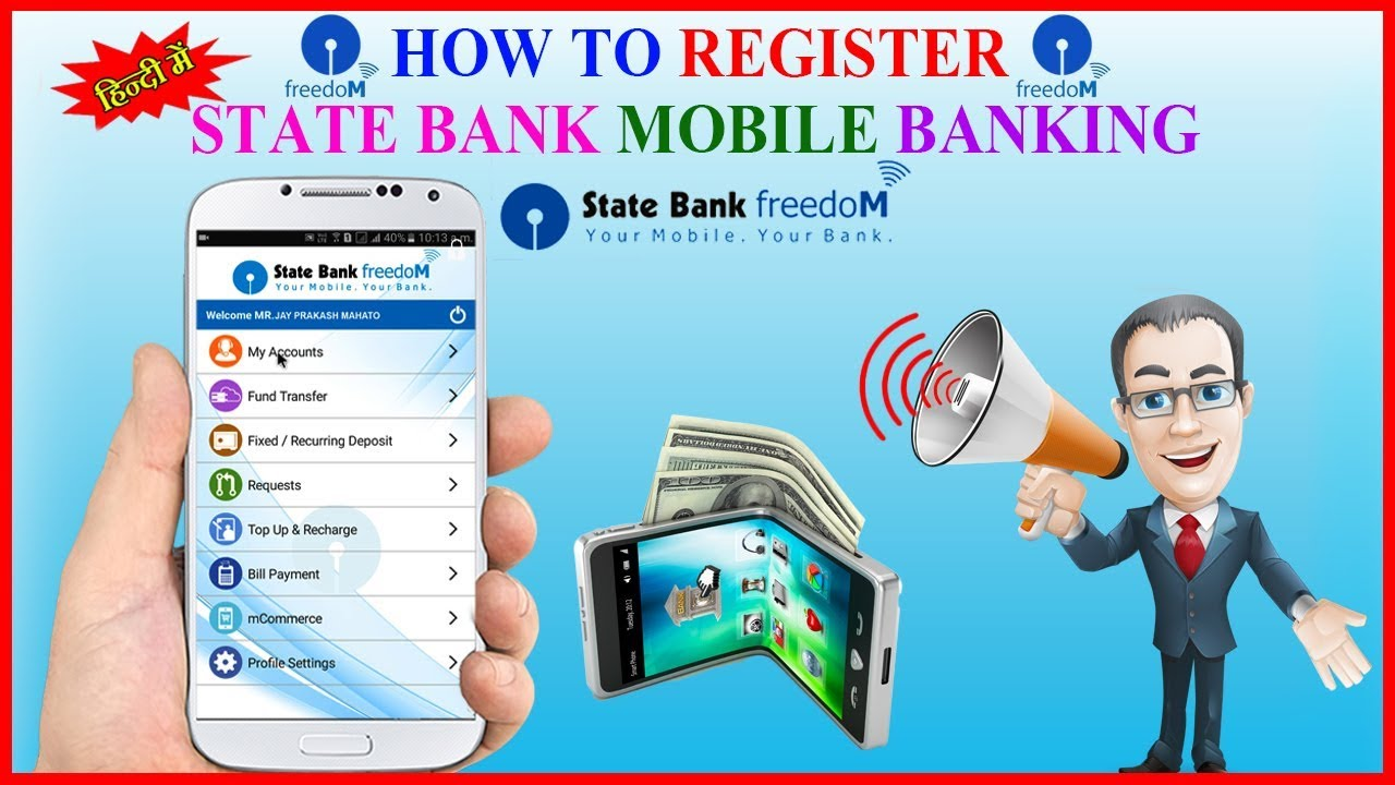How to register SBI Mobile Banking Step By Step in Hindi | SBI FREEDOM - YouTube