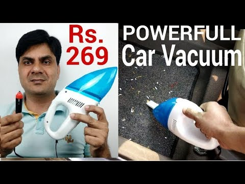 Review Powerfull Car Vacuum Cleaner Rs  269 Only