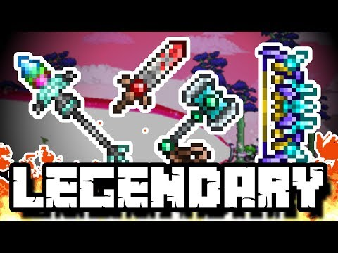 Terraria 1.3.5 LEGENDARY WEAPONS - The Thorium Mod