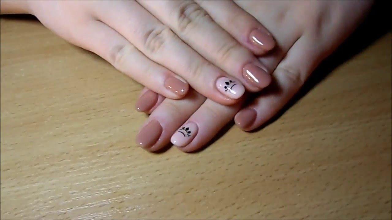 Silcare Delikatne Paznokcie Z Korona Manicure Hybrydowy Youtube