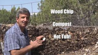 Compost-Powered Water Heater provides Free heat for the Hot Tub and helps me grow organic food.