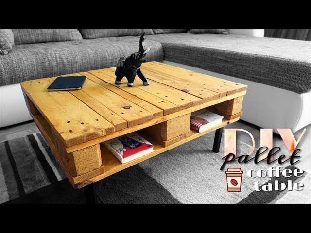 diy pallet coffee table again youtube