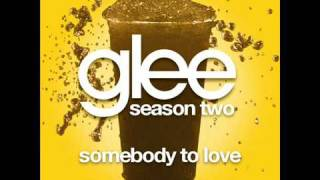 Glee Cast - Somebody To Love by Justin Bieber (FULL HQ STUDIO)