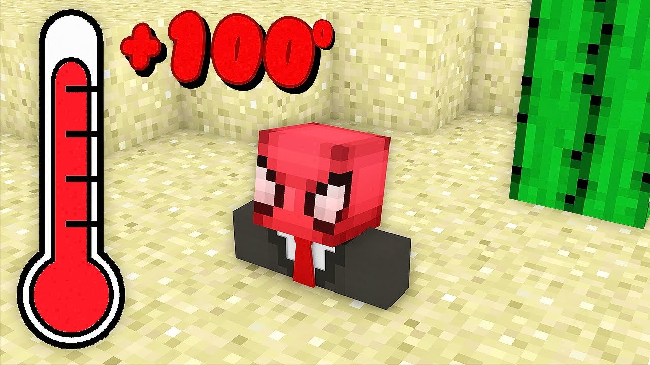 100 GÜN ÇÖLDE KALMAK 🏜️ - Minecraft