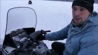 научиться ездить на снегоходе