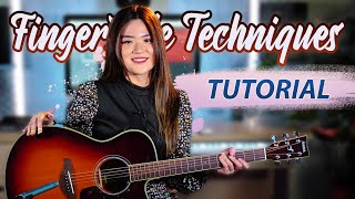 6 Fingerstyle Techniques I Always Play (Tutorial) | Josephine Alexandra