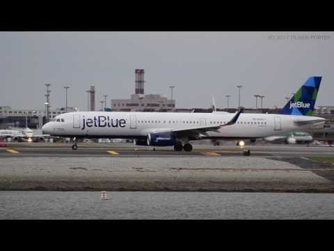 [HD 1080p] 20min of Heavy Jet Traffic | Boston Logan Airport