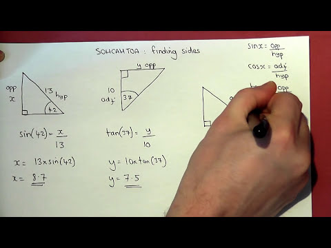 Trigonometry Basics : how to find missing sides and angles easily
