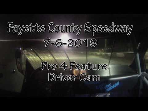 Fayette County Speedway Pro 4 Feature Driver Cam 7-6-2019