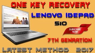 One key recovery of lenovo idepad 510[ format ] in hindi [format lenovo idepad 510