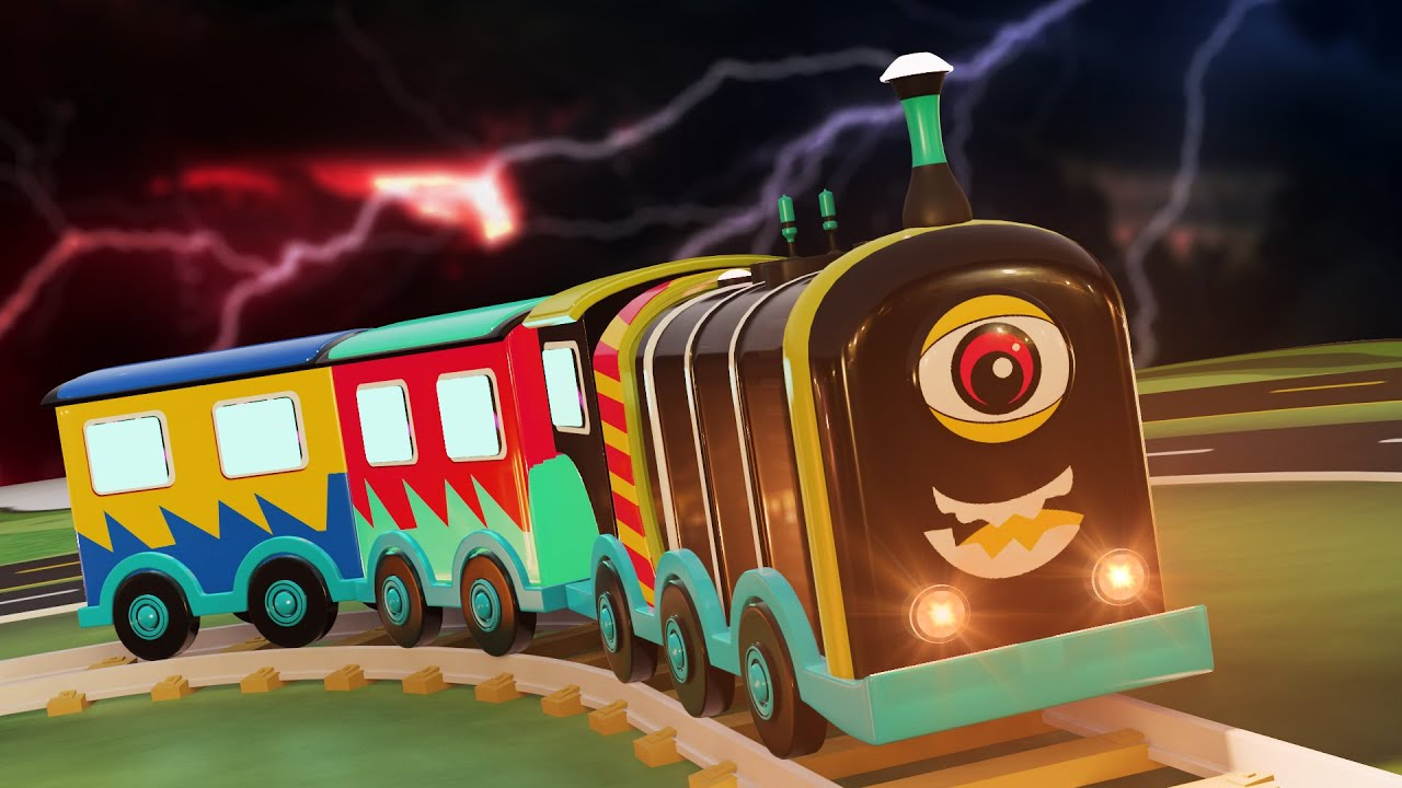 Funny ghost cartoon for kids - Toy train - choo choo train kids videos