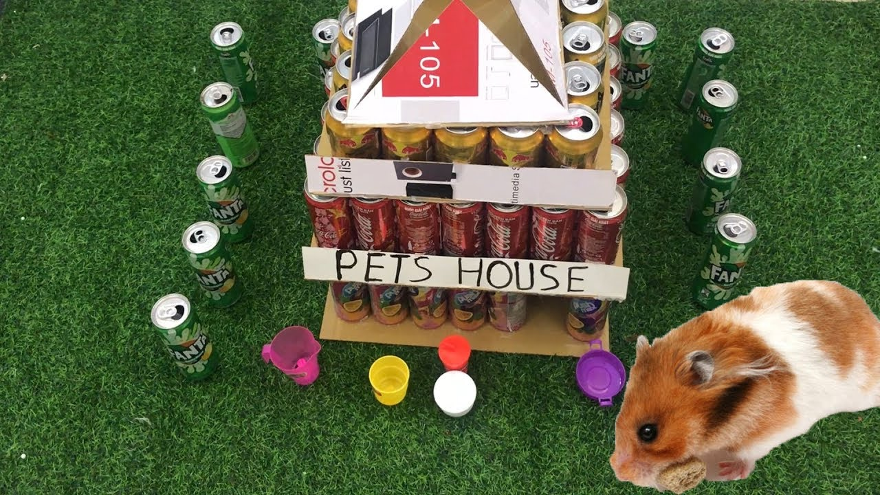 DIY - How to Build Villa House 3 Level Maze From Cans  - Pets House