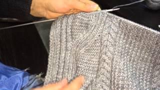 Вводный урок 1! Вязание широких кос из 20 петель спицами!