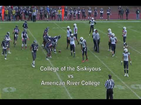 College of the Siskiyous vs. American River College Football Game - 19 October 2019